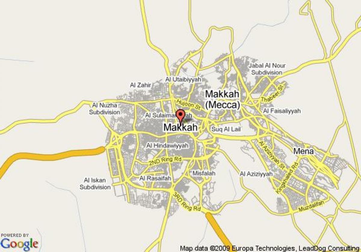 kart over mekka Mekka street map   Kart i Mekka street (Saudi Arabia) kart over mekka