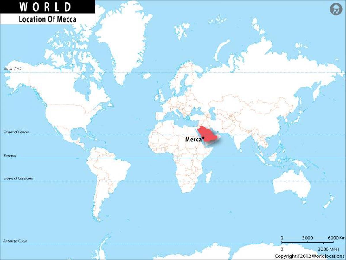 kart over mekka Mekka world map   Mekka i verden kart (Saudi Arabia) kart over mekka